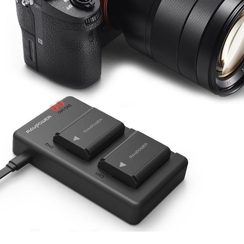 Ravpower Np Fw50 Camera Batteries Charger Set For Sony Rp Pb056 (3)
