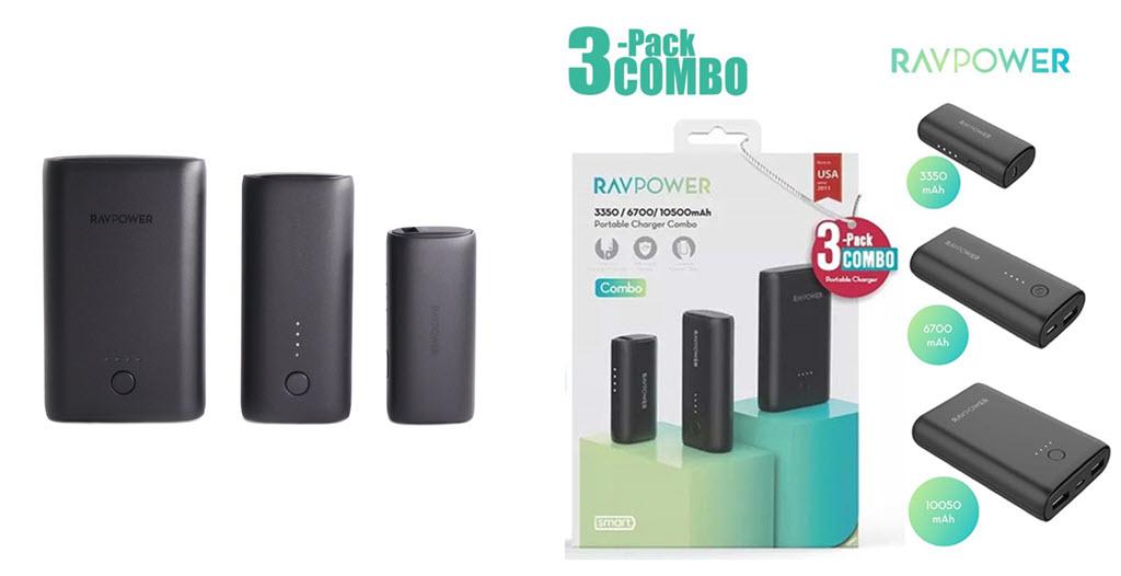 Ravpower Power Bank Combo 3 Pack Portable Charger 3350mah6700mah10050mah (2)