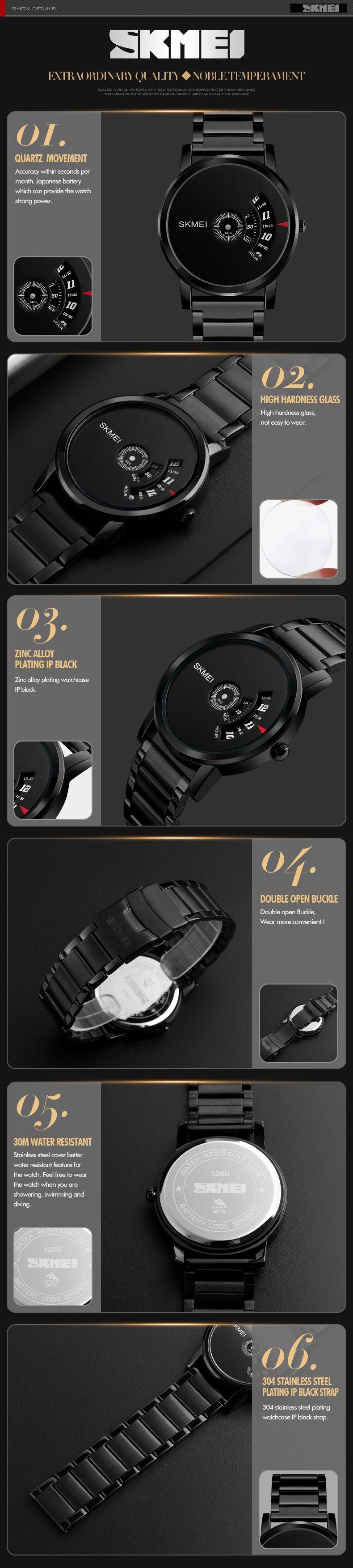 Skmei 1260 Metal Wrist Watch For Men (2)