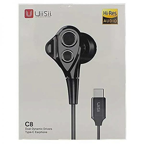 Uiisii C8 Dual Dynamic Type C In Ear Earphones (2)