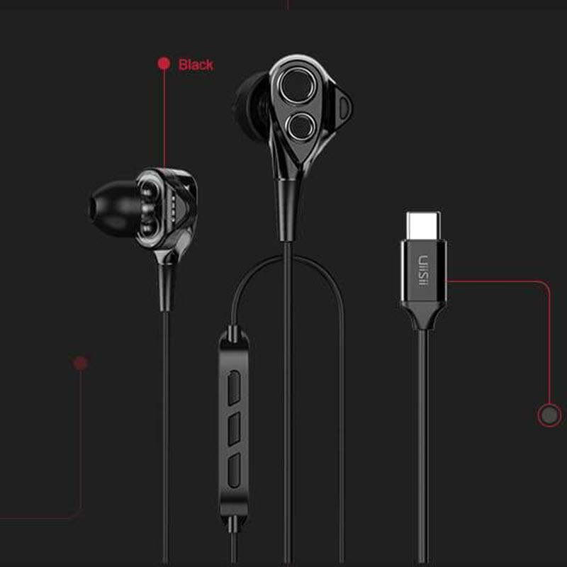 Uiisii C8 Dual Dynamic Type C In Ear Earphones (3)