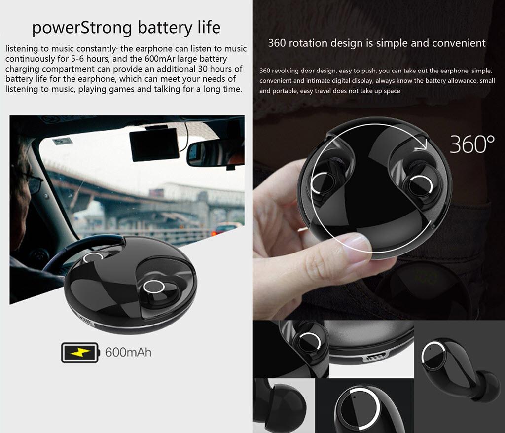 Uiisii Tws11 Mini Touch Wireless Bluetooth Earphones (5)