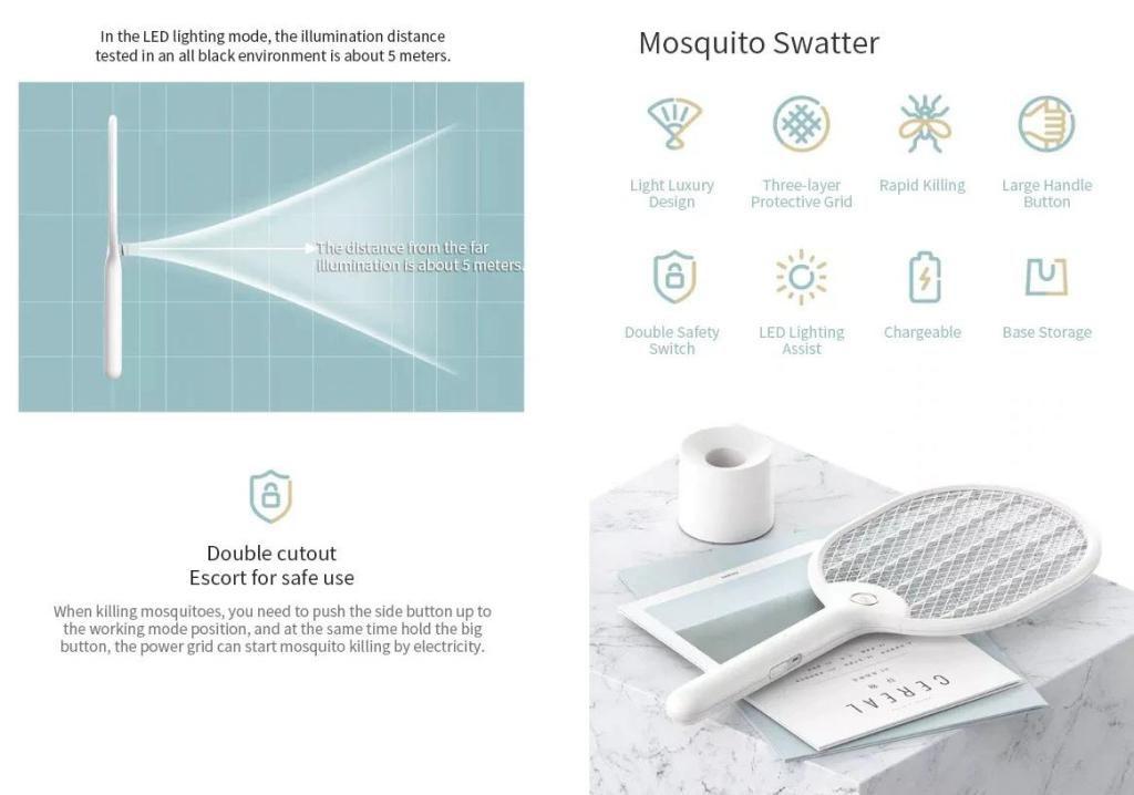 Xiaomi Mijia 3 Layers Mesh Mosquito Swatter Killer (1)