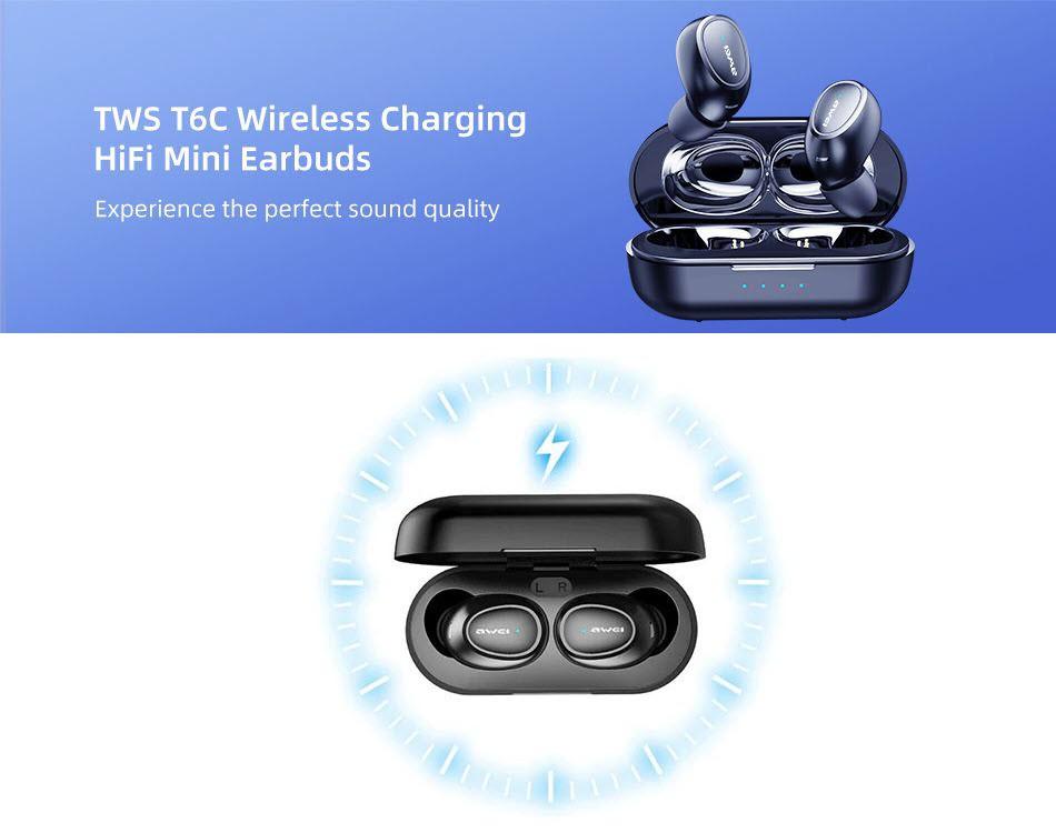 Awei T6c Mini Tws Wireless Bluetooth Earbuds (4)