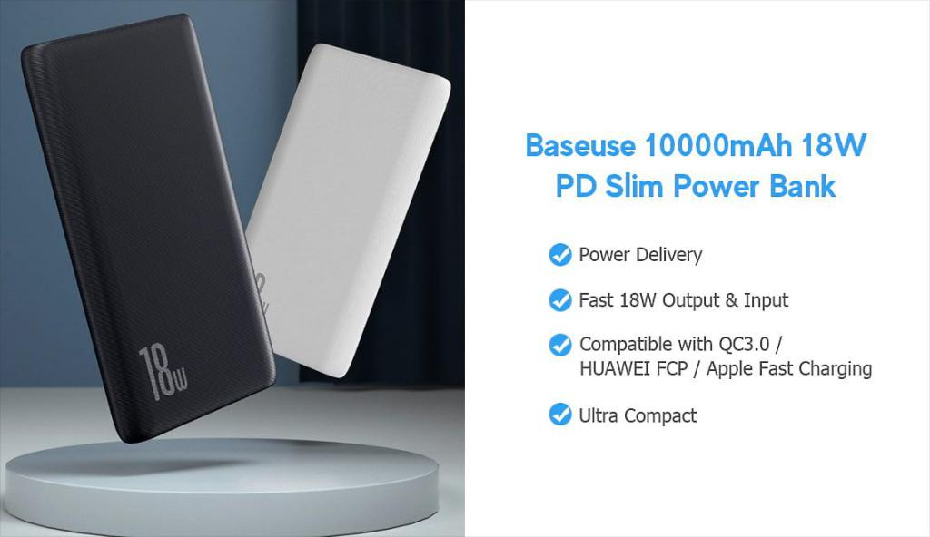 Baseus 10000mah Usb C Pd Qc Slim Power Bank N1pd (1)