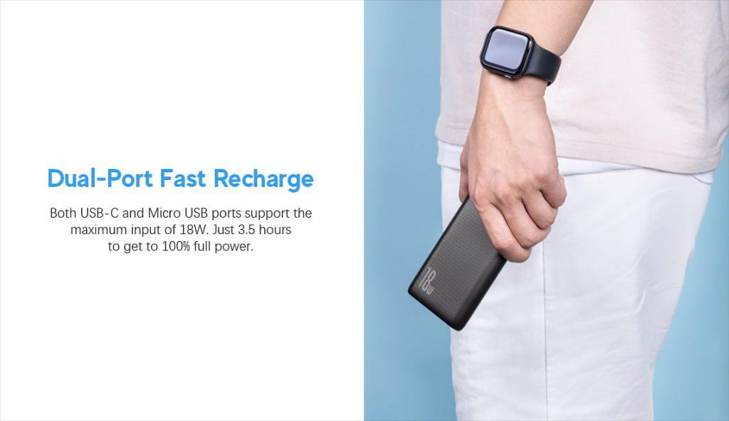 Baseus 10000mah Usb C Pd Qc Slim Power Bank N1pd (4)