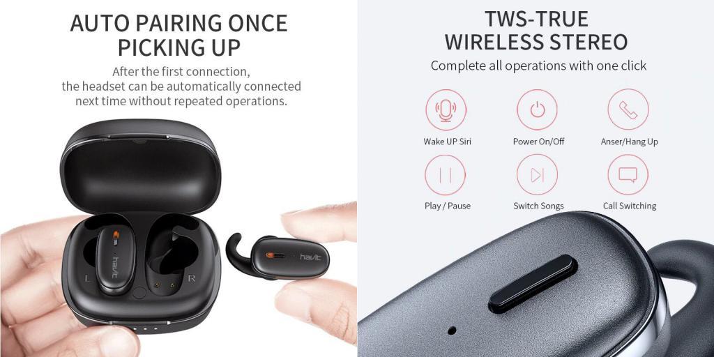 Havit Ix501 Tws Bluetooth Earbuds (4)