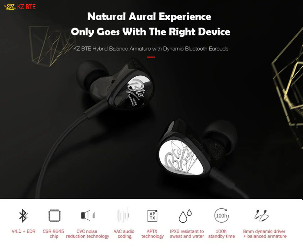Kz Bte Wireless Bluetooth Earphones (2)