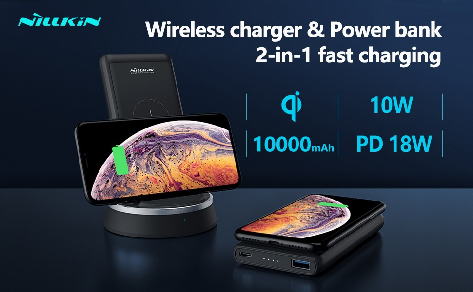 Nillkin Powermount 10000mah Wireless Charger Power Bank Dock (1)