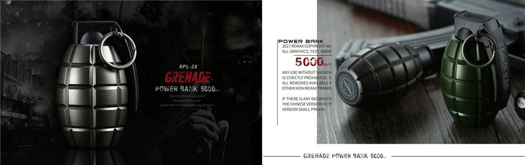 Remax Grenade Powerbank 5000mah (3)