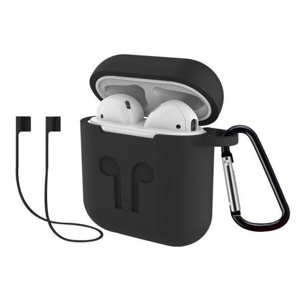 Rock Airpods Silicone Case With Anti Lost Strap Hook (8)