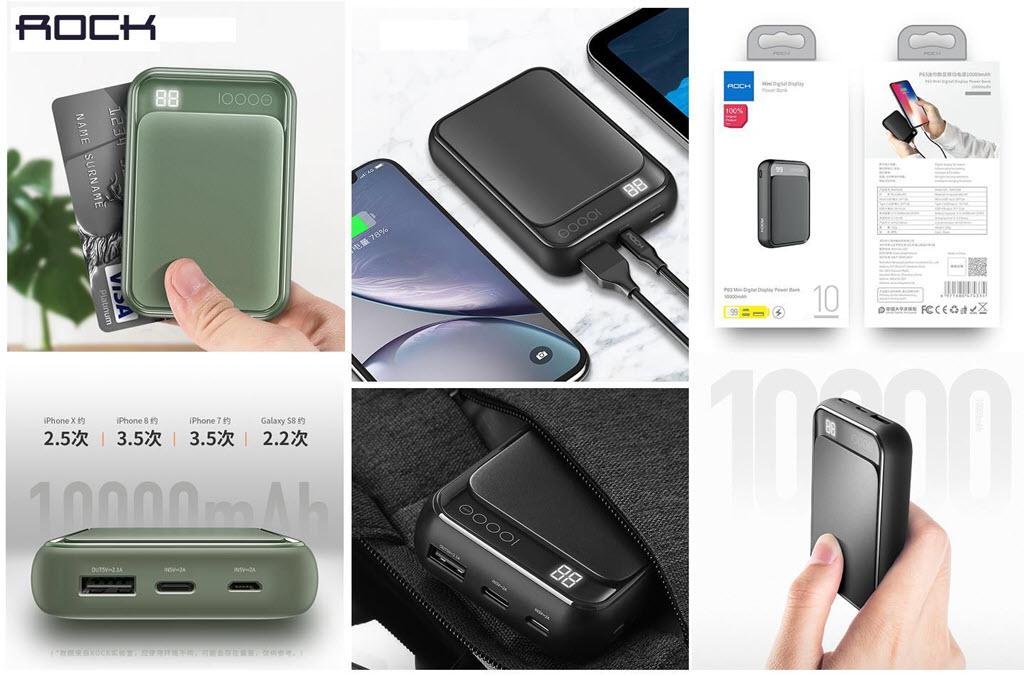 Rock P63 Mini Power Bank 10000mah With Digital Display (8)