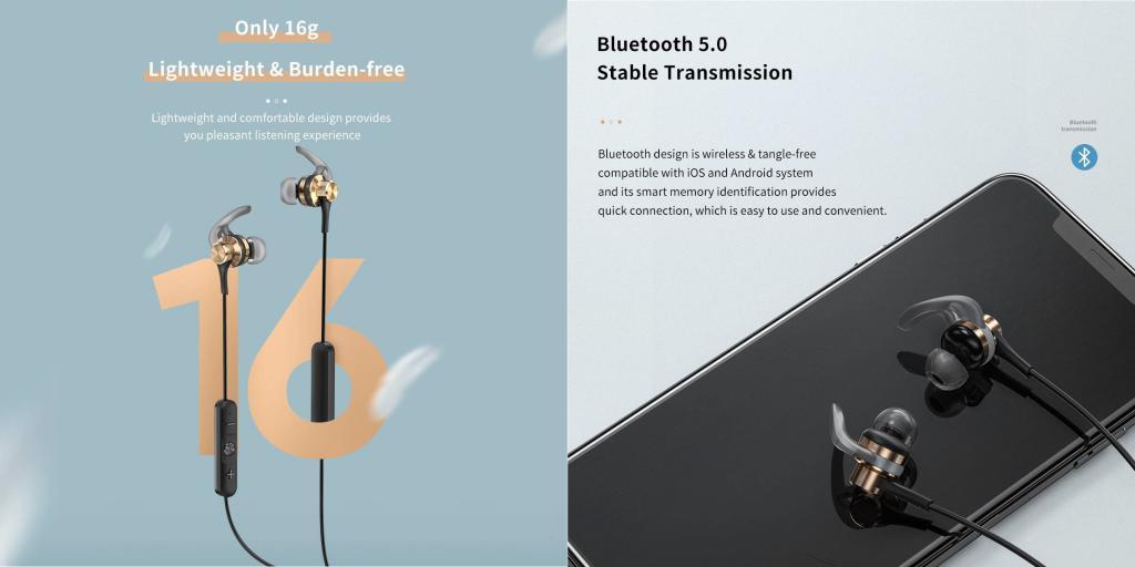 Rock Space Muvia H2 Magnetic Bluetooth Earphones (4)