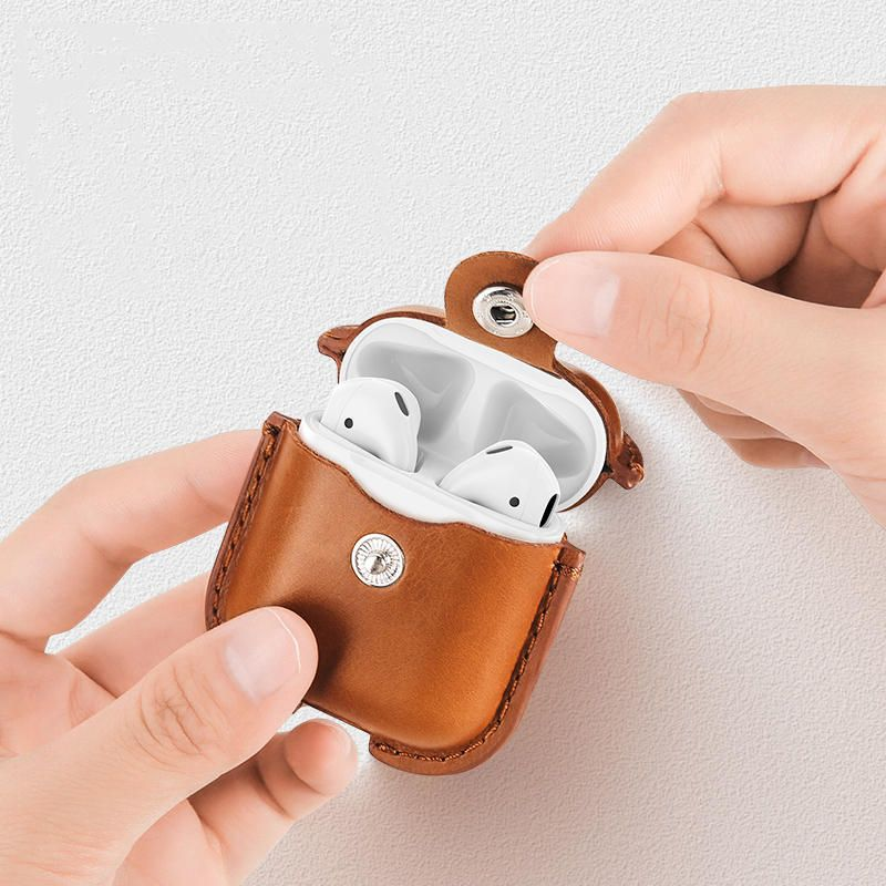Usams Us Bh475 Genuine Leather Airpods Case (4)
