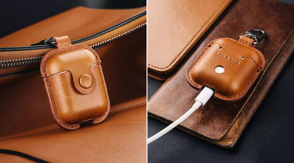 Usams Us Bh475 Genuine Leather Airpods Case (7)