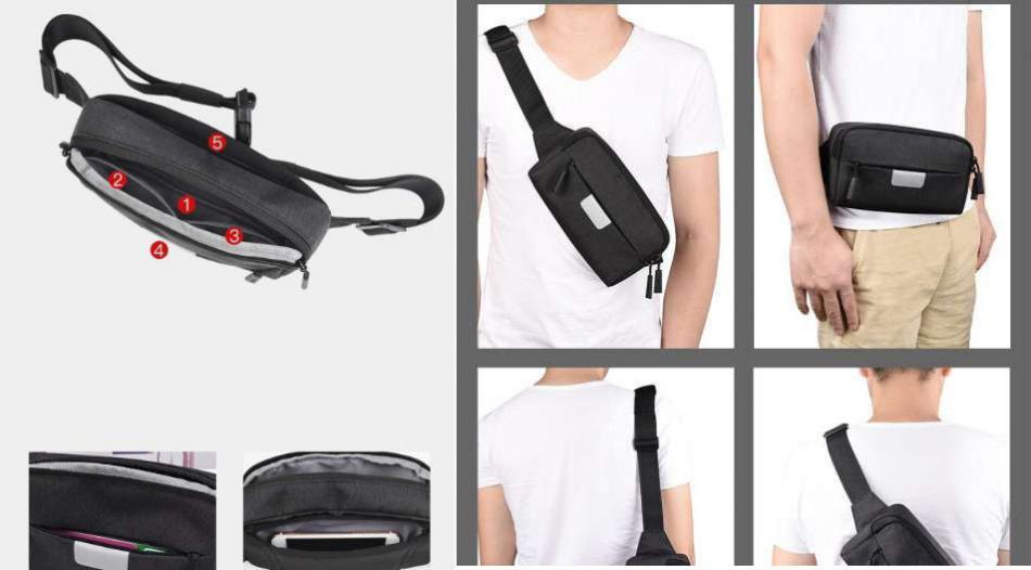 Wiwu Fanny Pack Waterproof Waist Bag (1)