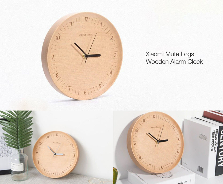 Xiaomi Bela Design Wooden Wall Clock (1)