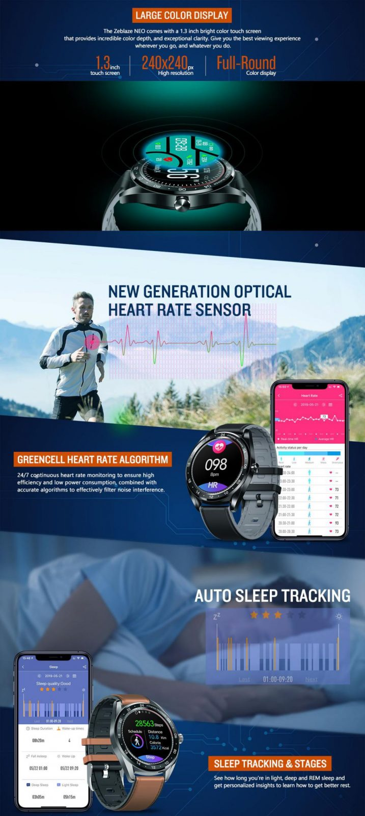 Zeblaze Neo Full Round Touch Screen Smartwatch (2)