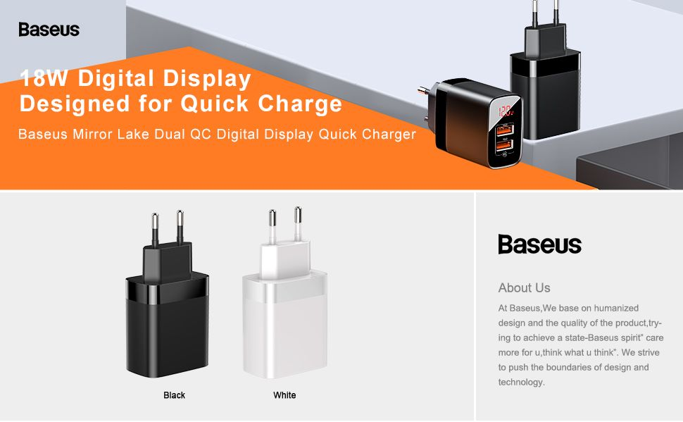 Baseus Mirror Dual Usb 18w Quick Charger With Digital Display (1)