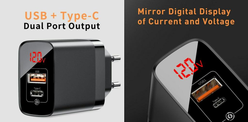 Baseus Mirror Pps Quick Charge 3 0 18w Ac Usbtype C Wall Charger (1)