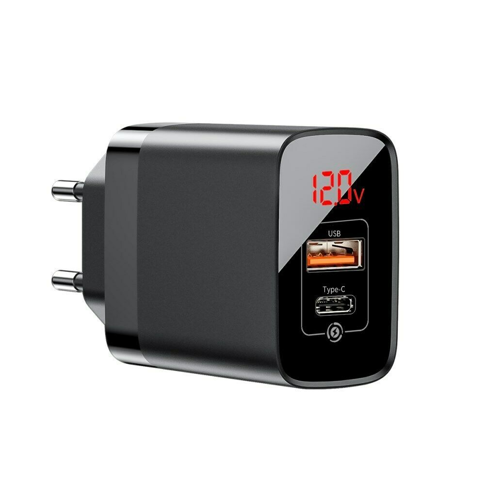 Baseus Mirror Pps Quick Charge 3 0 18w Ac Usbtype C Wall Charger (3)