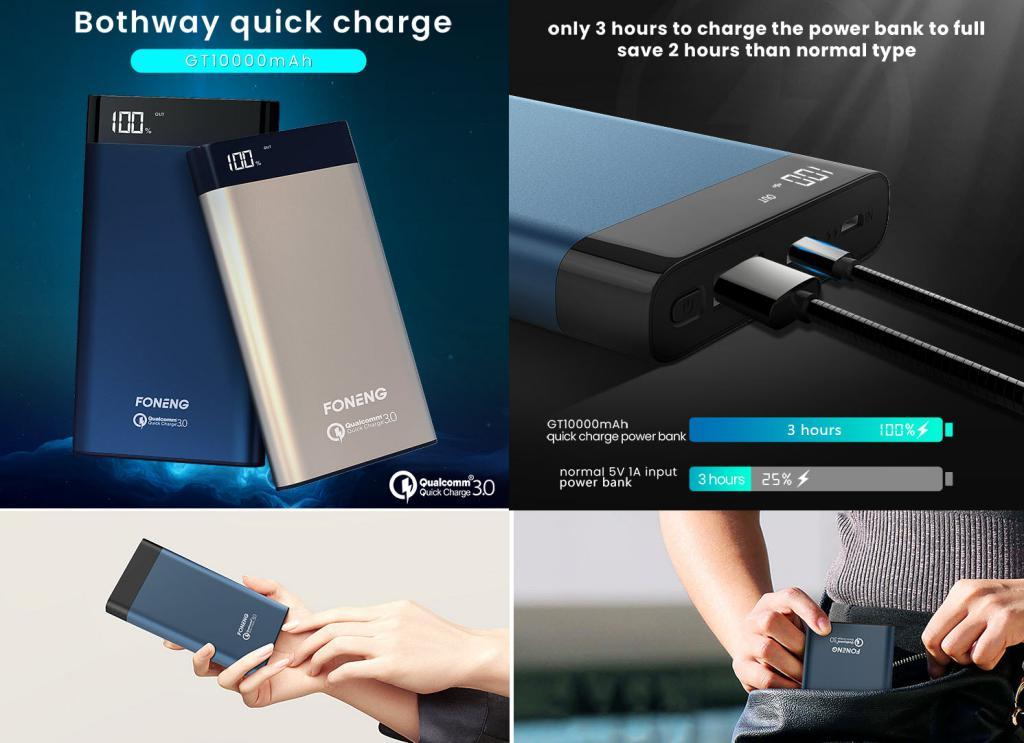 Foneng Gt Qc 3 0 Fast Charging 10000 Power Bank (1)