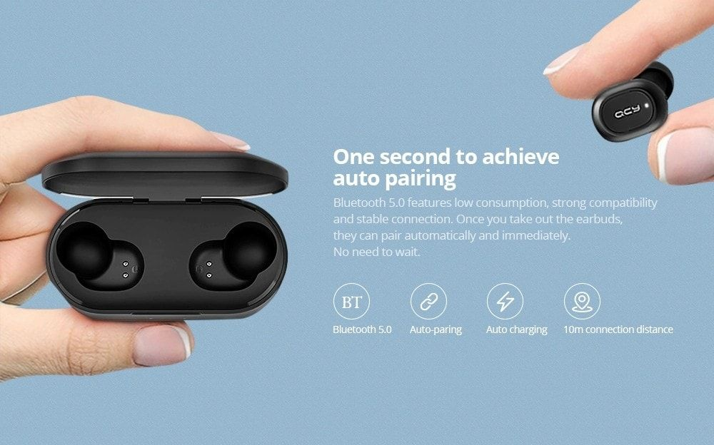 Qcy T2s Tws Bluetooth 5 Wireless Charging Earbuds (4)