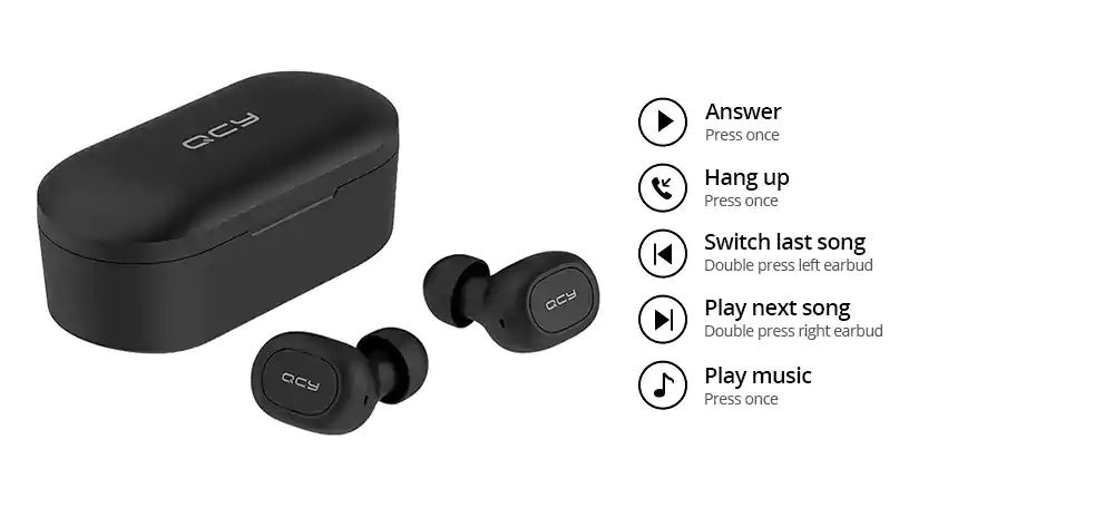 Qcy T2s Tws Bluetooth 5 Wireless Charging Earbuds (5)