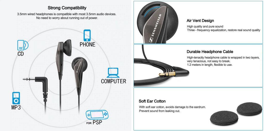 Sennheiser Mx375 Stereo Earbuds 3 5mm Earphones (4)