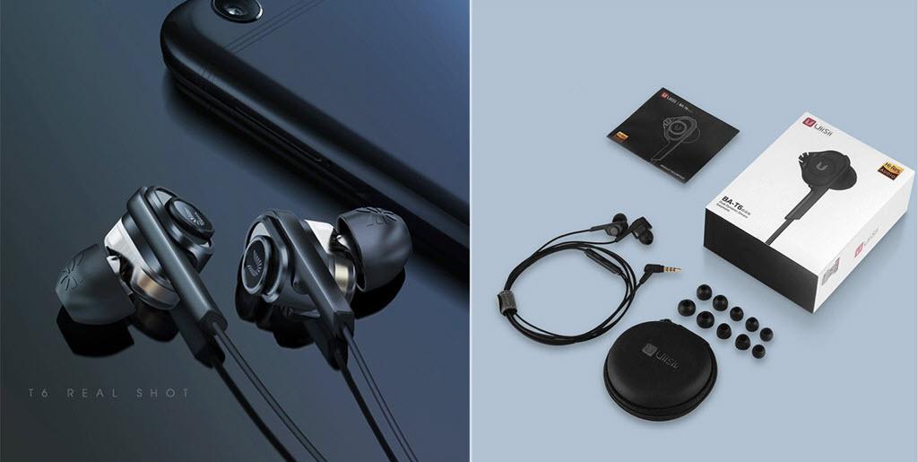Uiisii T6j Dual Dynamic Drivers Earphones (1)