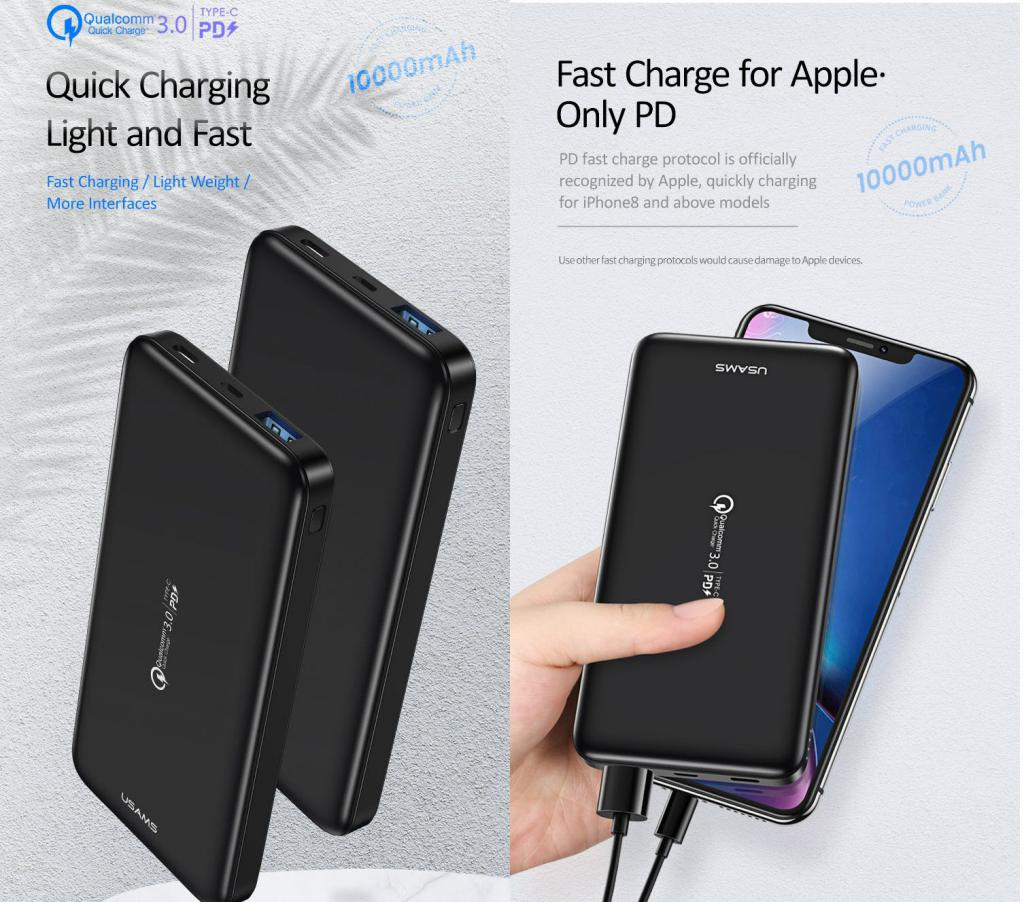 Usams Pb30 Qc3 0pd Fast Charging Power Bank (1)