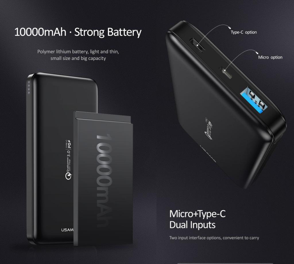 Usams Pb30 Qc3 0pd Fast Charging Power Bank (2)