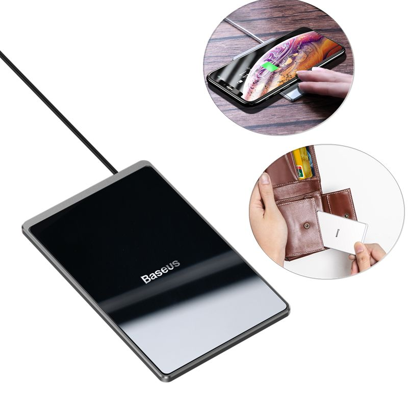 Baseus Card Ultra Thin Wireless Charger 15w With Usb Cable (3)