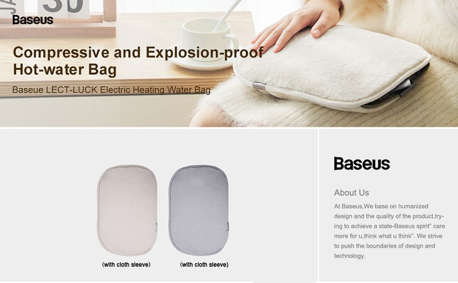 Baseus Electric Heating Water Bag With Sleeve (1)
