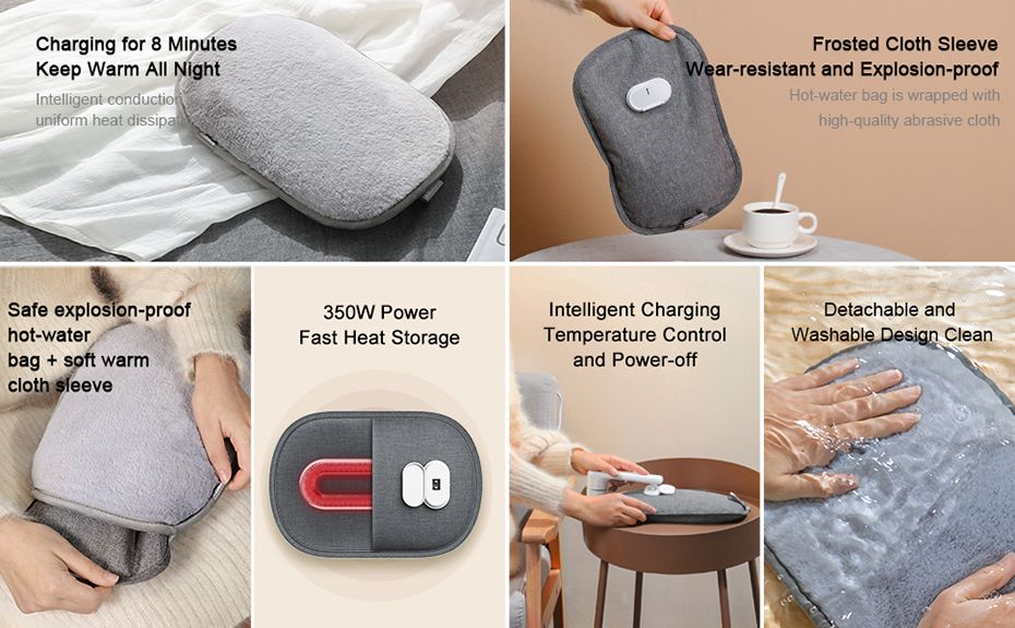Baseus Electric Heating Water Bag With Sleeve (2)