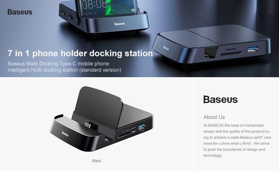 Baseus Mate Docking Type C Mobile Phone Intelligent Hub Docking Station (1)