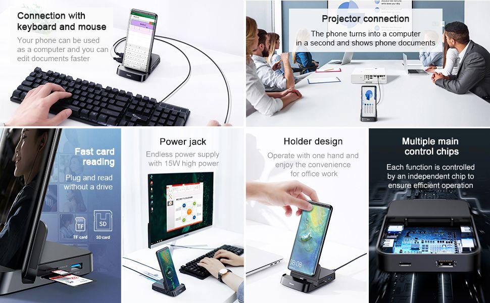 Baseus Mate Docking Type C Mobile Phone Intelligent Hub Docking Station (2)
