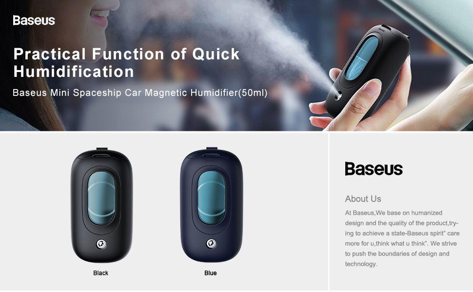 Baseus Mini Spaceship Car Magnetic Humidifier 50ml Aroma Mist Purifier (3)