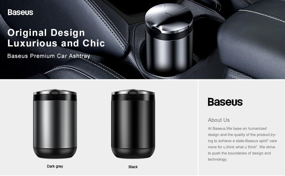 Baseus Portable Car Ashtray Led Light Cigarette Smoke Ashes Holderhtray With Led Light (3)