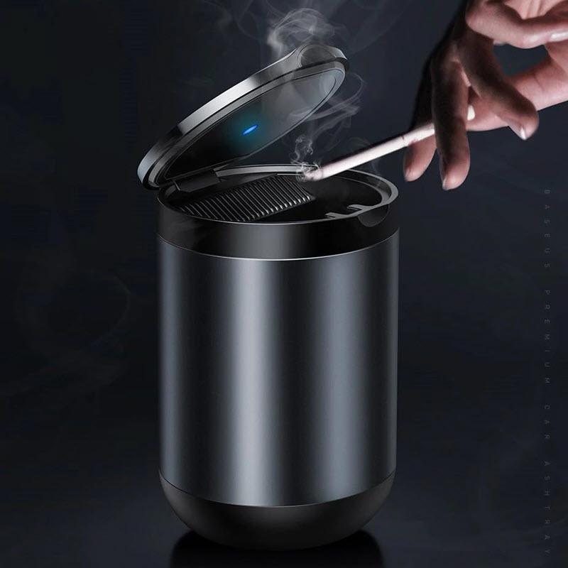 Baseus Portable Car Ashtray Led Light Cigarette Smoke Ashes Holderhtray With Led Light (4)