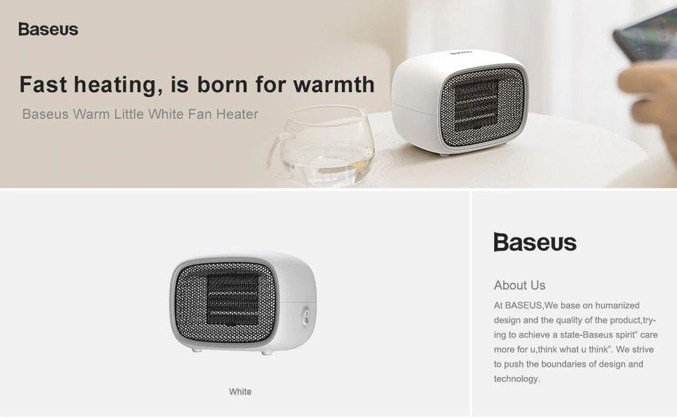 Baseus Warm Little White Fan Heater (2)