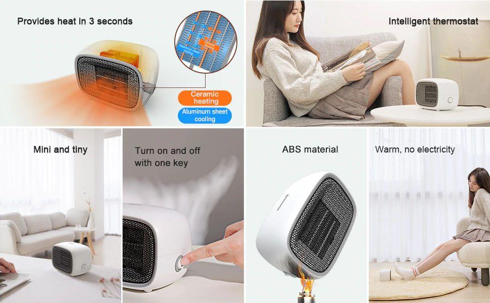 Baseus Warm Little White Fan Heater (3)