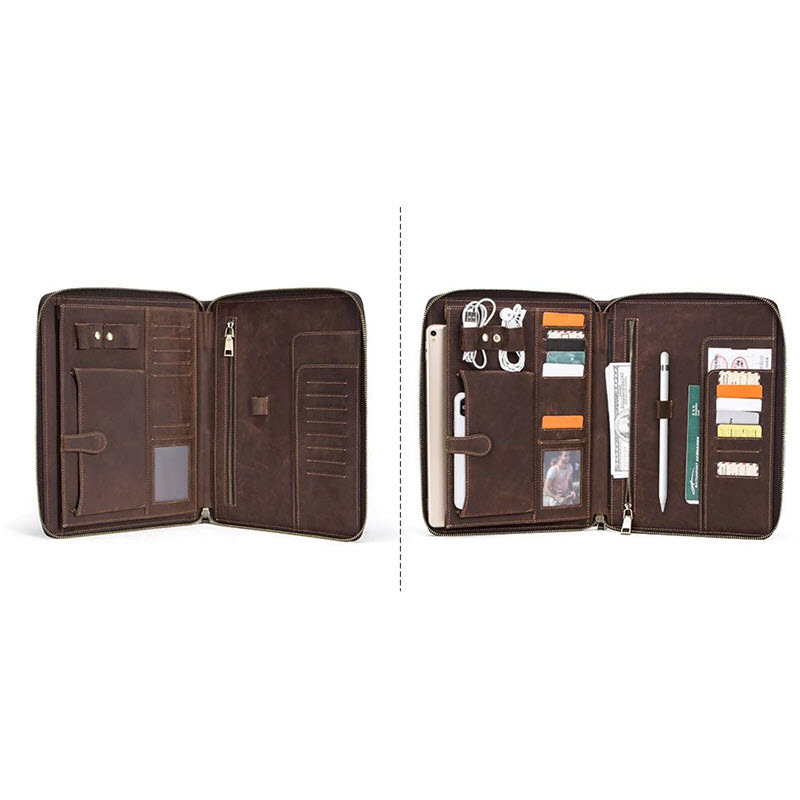 Contacts Family Leather Bag For Phone Pocket Earphone Pouch Passport Holder (4)