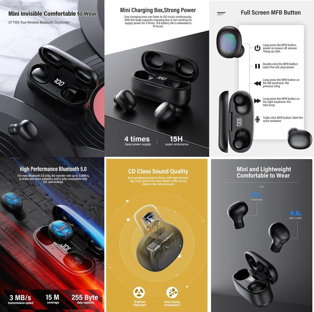 Dacom U7 Tws Wireless Earphones With Led Display (1)