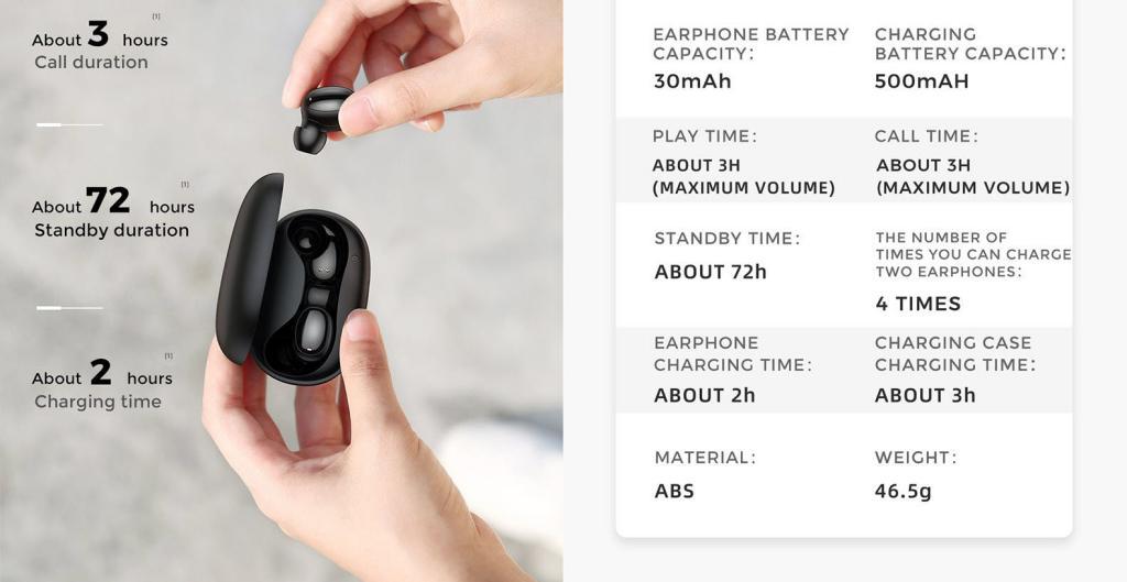 Joyroom Jr T08 Mini Tws Bluetooth Earphones (5)