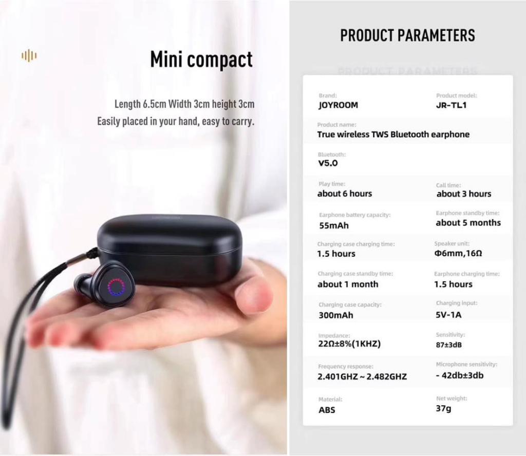 Joyroom Jr Tl1 Tws Waterproof Earbuds (4)