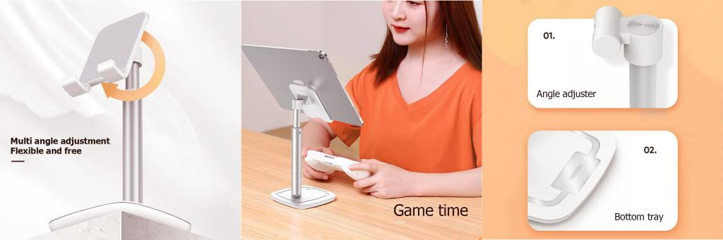 Joyroom Zs203 Universal Tablet Phone Holder Table Stand (3)