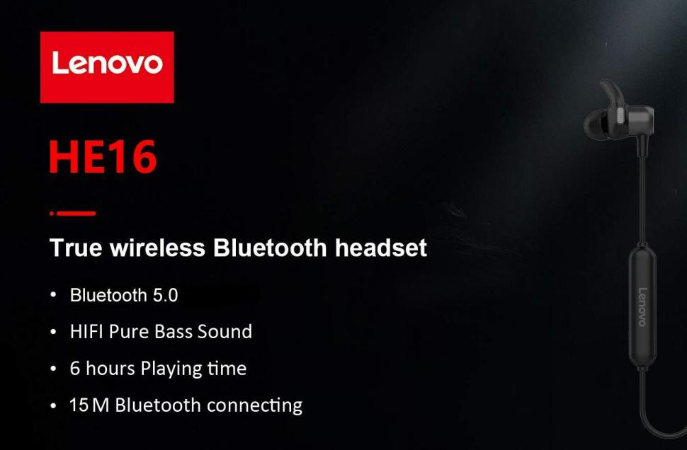 Lenovo He16 Wireless Bluetooth Earphones (3)