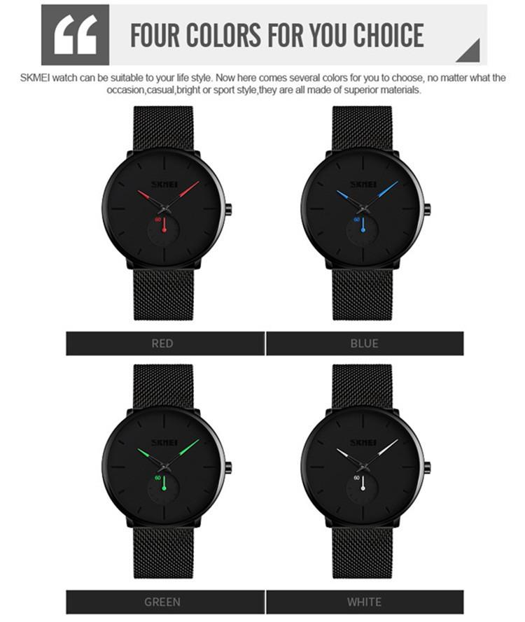 Skmei 9185 Stainless Steel Strap Quartz Watch (2)
