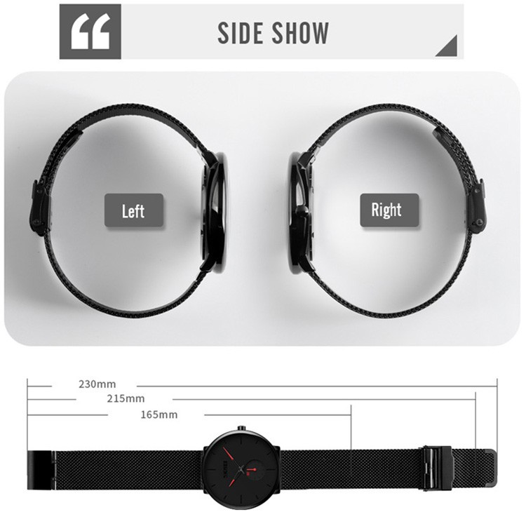 Skmei 9185 Stainless Steel Strap Quartz Watch (5)